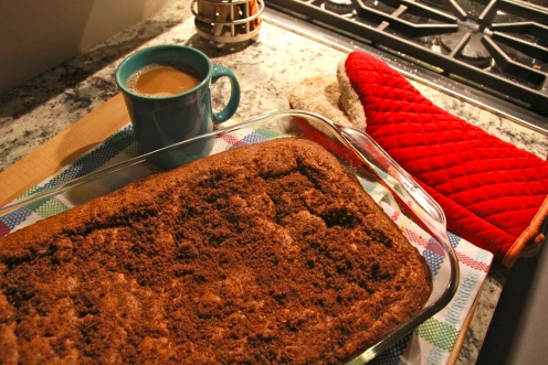 Baked Sour Cream Coffee Cake