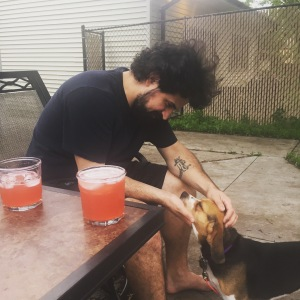 Chef Boyfriend, a 3-legged dog, & some Negroni Radlers.